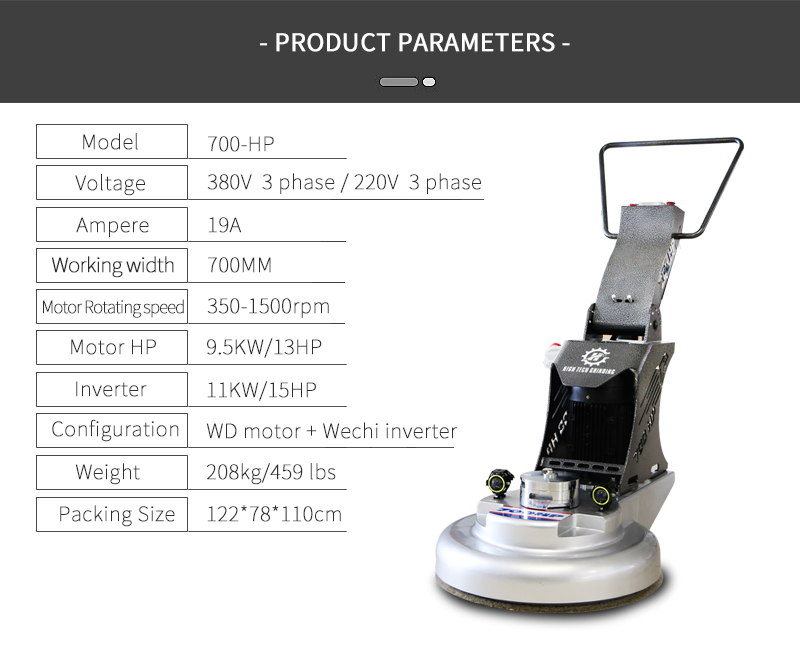 Professional floor surface polishing equipment