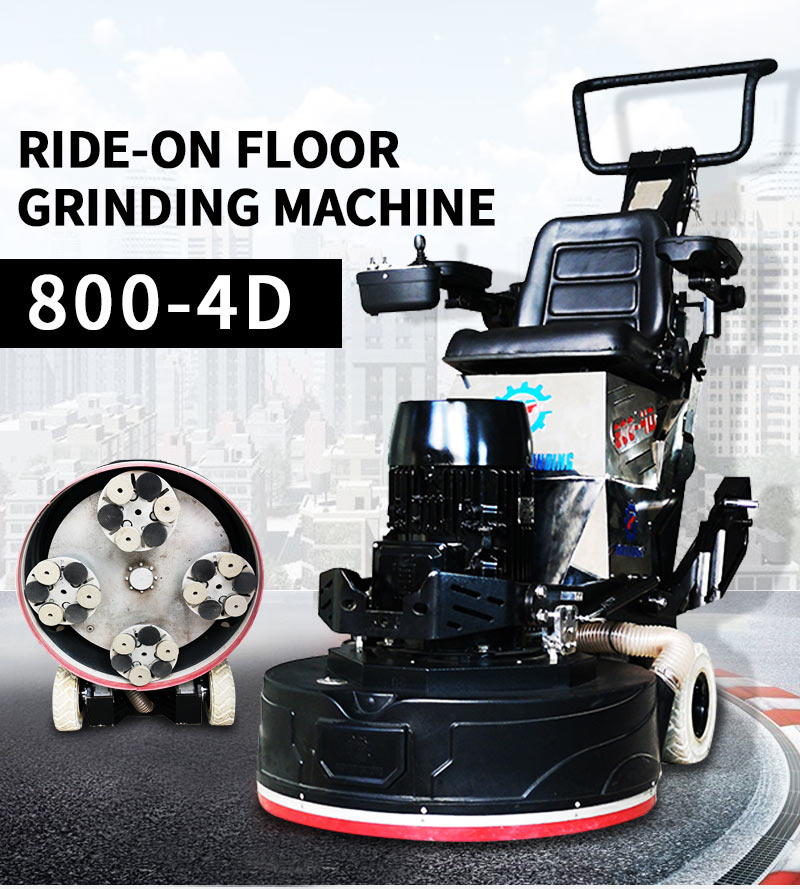 Industrial and commercial floor repair machine