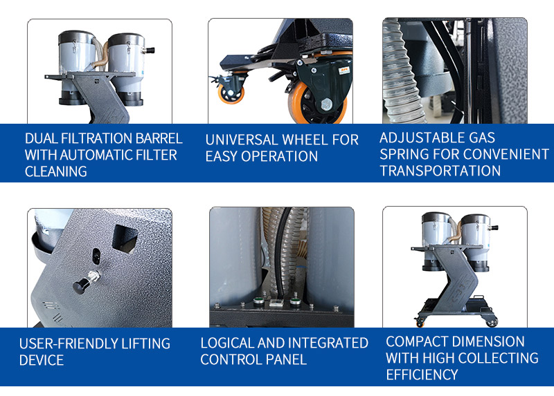 Durable dust extraction equipment with strong suction